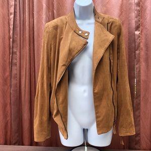 Adrienne Vittadini Suede Moto Jacket